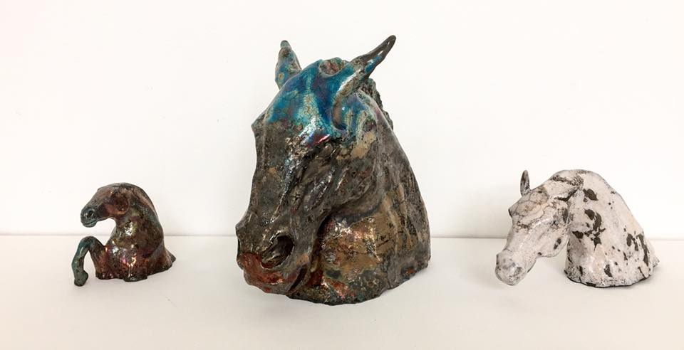 animal artist ceramic sculpture clay bronze raku horse dog cat commissions commission own portrait scotland scottish uk